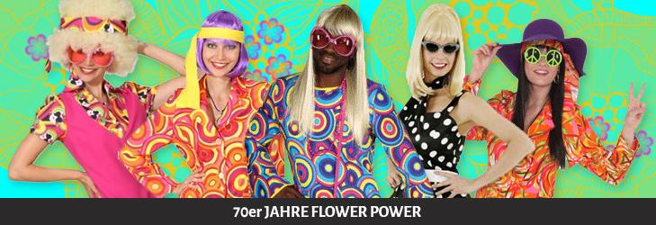 70er Jahre Flower Power