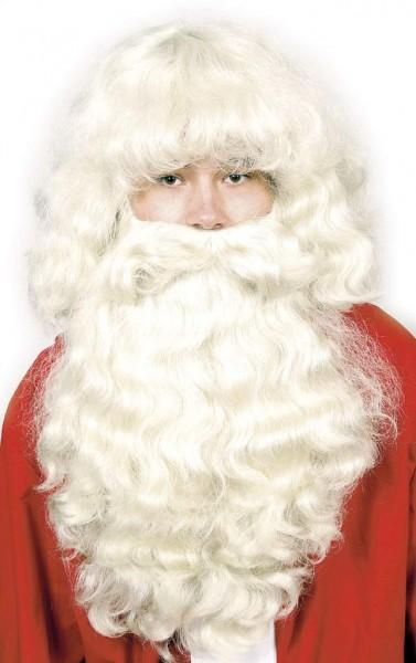 Nikolausset (Bart und Perücke) in weiß, natur, matt-weiß