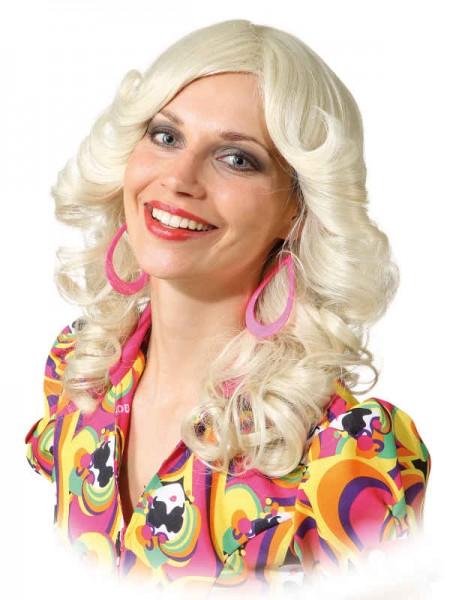 70er Jahre Perücke gelockt, blond