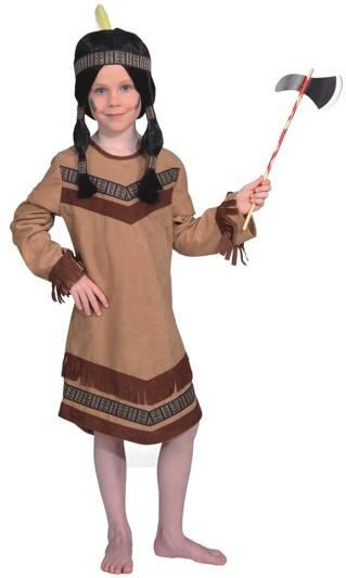Faschingskostüm für Kinder: Indianerin Cheyenne (Kleid) - Größe: 116 - 164