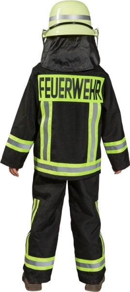 Faschingskostüm Kinder Feuerwehr Junge schwarz
