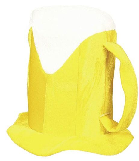 Faschingshut Bierkrug gelb - Einheitsgröße - 100% Polyester