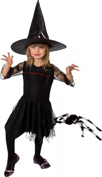 Fasching Halloween Kostüm Kinder Kleid Hexe schwarz - ohne Hut