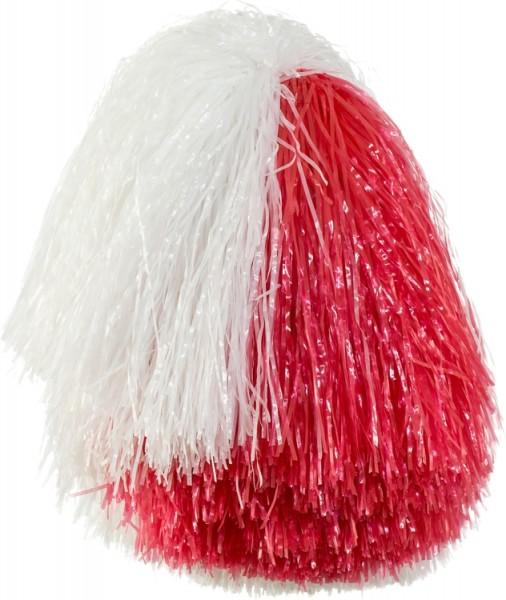 Faschingszubehör Cheerleader Pom-Pon´s blau o. rot-weiß