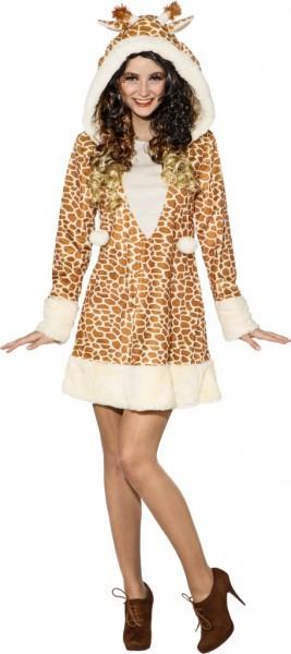 Fasching Kostüm Damen Kleid Giraffe