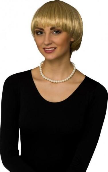 Perücke Damen Schüttelfrisur blond