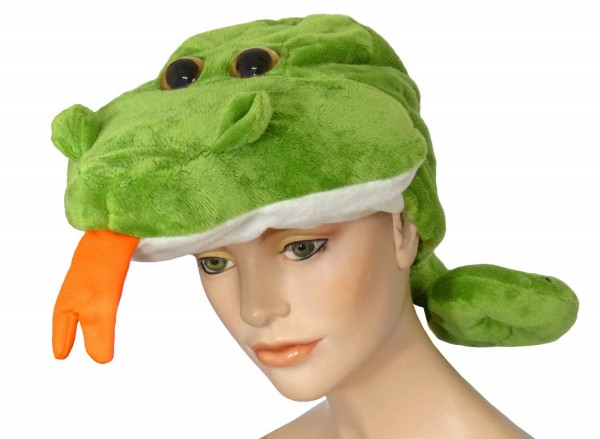 Plüsch-Mütze Schlange