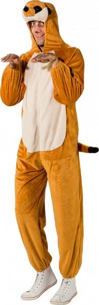 Fasching Kostüm Erwachsene Overall Erdmännchen
