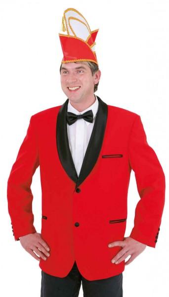 Elferratsjacke rot mit Schalkragen - Größe: 48 - 60