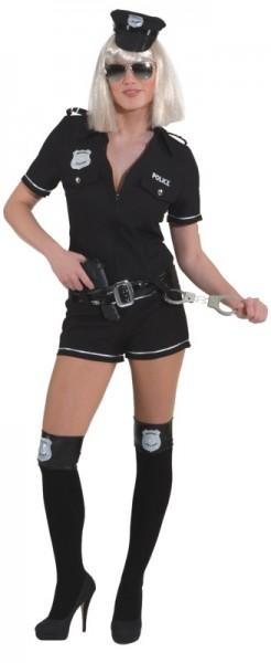 Police Girl, schwarz (Overall, Gürtel) in den Größen 34 bis 42