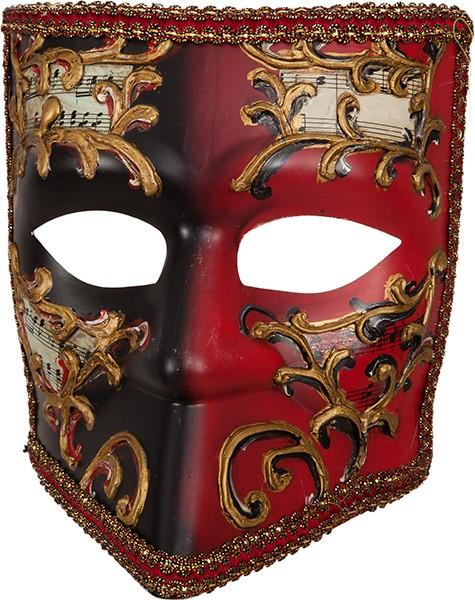 Fasching Venedig-Maske schwarz-rot für Männer
