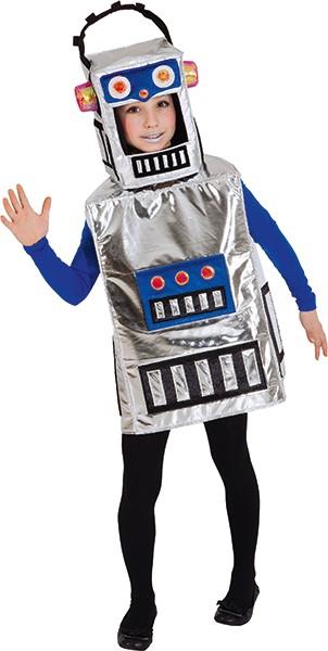 Fasching Kostüm Kinder Roboter-Überwurf