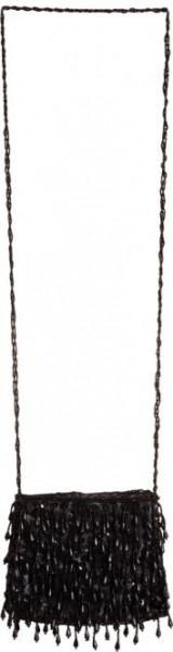 Charleston-Tasche, schwarz mit Pailetten