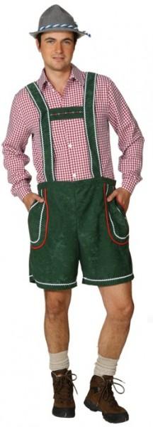Faschingskostüm Herren Tirolerhose grün (50 - 58)