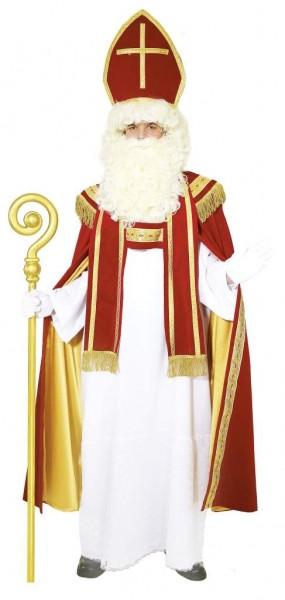 Faschingskostüm Sankt Nikolaus - BW-Samt - uni size - Mitra, Gewand, Umhang, Stola
