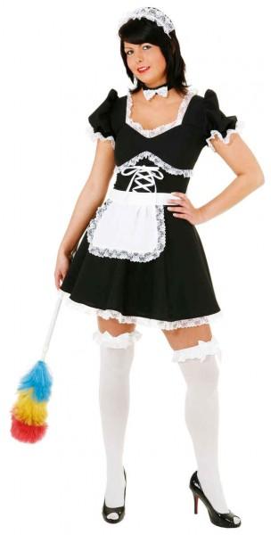 Stubenmädchen (Kleid, Haube, Halsband) - Größe: 36 - 44
