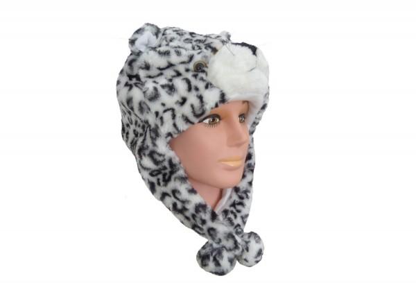 Plüsch Mütze Leopard