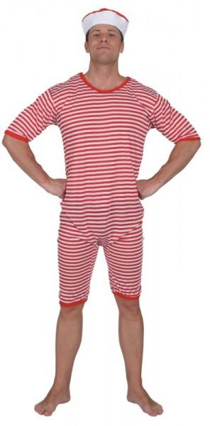 Badeanzug rot-weiß