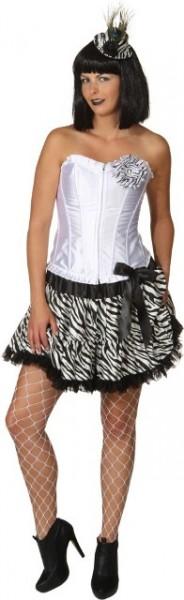 Pettiskirt Zebra-Look in den Größen S/M und L/XL