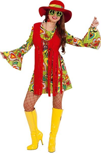 Hippie Frau (Kleid mit angenähter Weste) in den Größen 36 bis 46