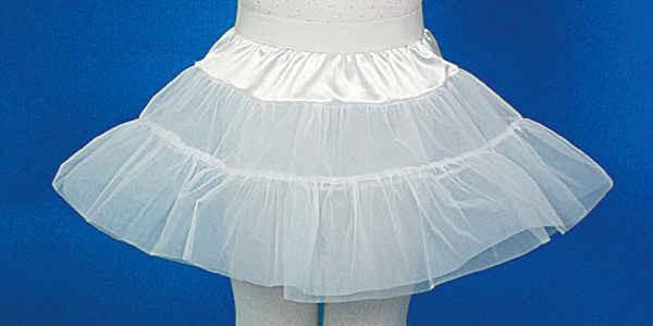 Petticoat, weiß für Kinder - Größe: 128 - 164