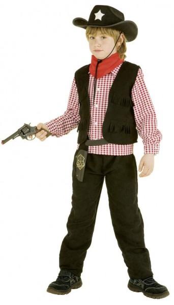 Faschingskostüm Kinder Cowboy Lucky schwarz - Größe: 104 - 140