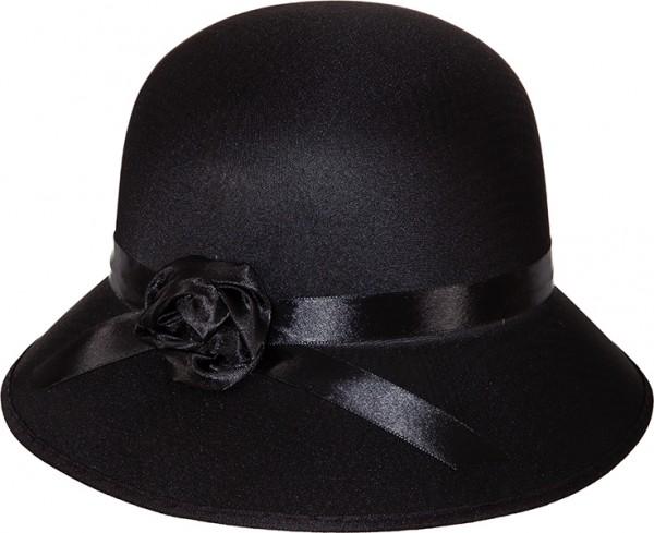 Faschingshut Damenhut 20er Jahre schwarz