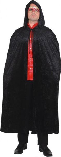 Umhang mit Kapuze schwarz - Größe: Einheitsgröße