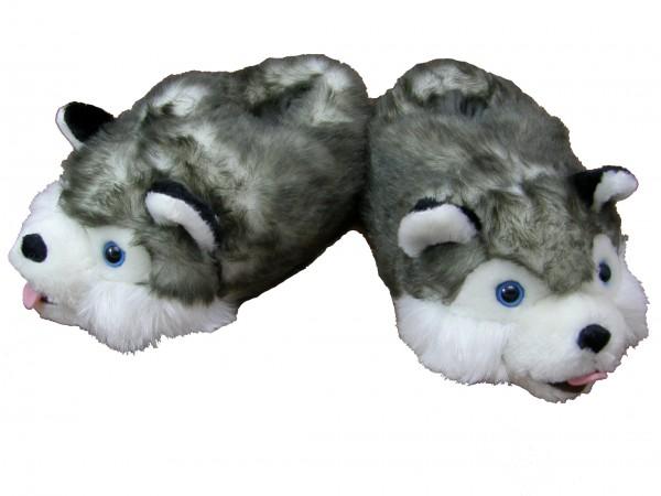 """Plüschhausschuhe """" Husky"""" - Größe: XXL"""