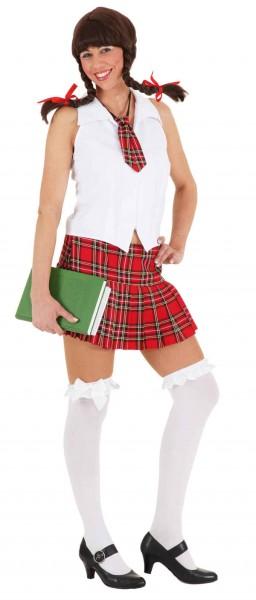 Sexy Schulmädchen (Faltenrock, Bluse, Krawatte) - Größe: 34 - 42