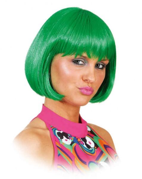 Perücke Sexy Lola, dunkelgrün