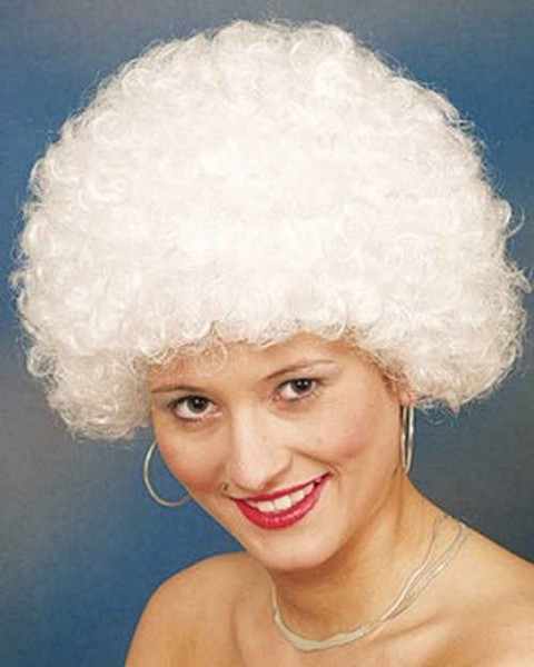 Faschingsperücke Hair, kleine Locke weiß