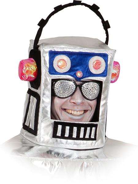 Faschingshut Erwachsene Roboter Kopf