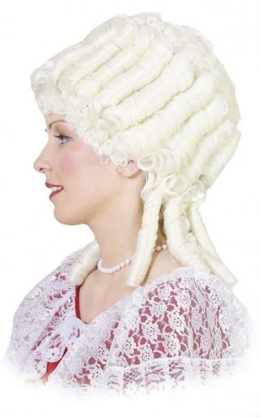 Perücke Marie Antoinette, creme-weiß