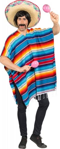Faschingskostüm Poncho Mexiko (Unisize)