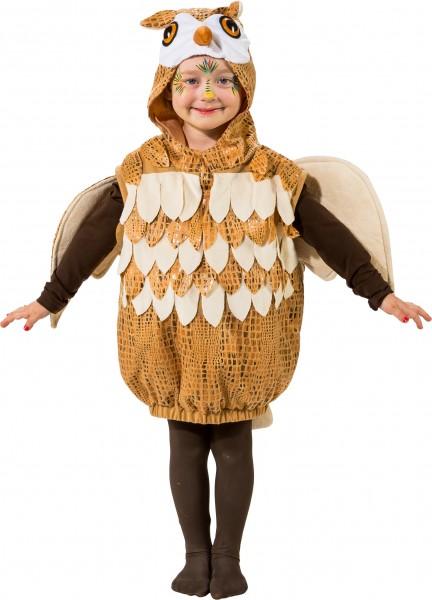 Fasching Kostüm Kinder Eulen Weste - Weste mit Kapuze und Flügeln