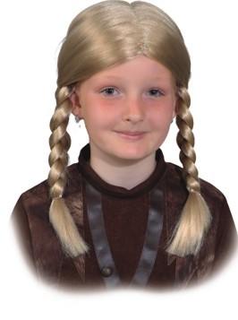 Perücke Wikinger Mädchen für Kinder