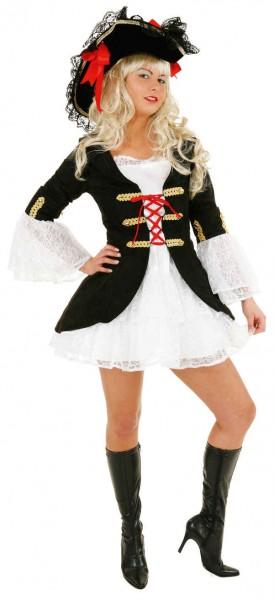 Seeräuberbraut (Jacke, Kleid mit Spitze) - Größe: 36 - 44