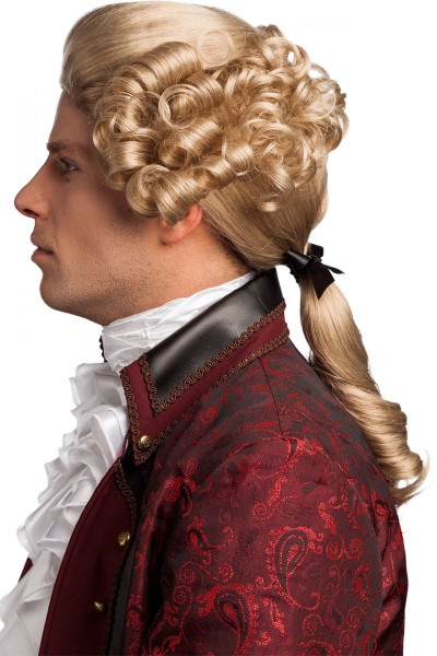 Fasching Perücke Herren Barock blond
