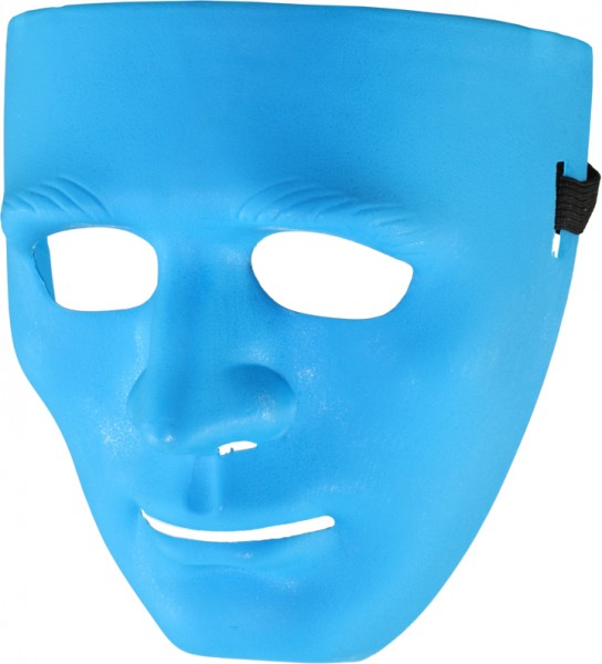Maske - Farben: weiß, blau, schwarz, pink, gelb, grün, orange
