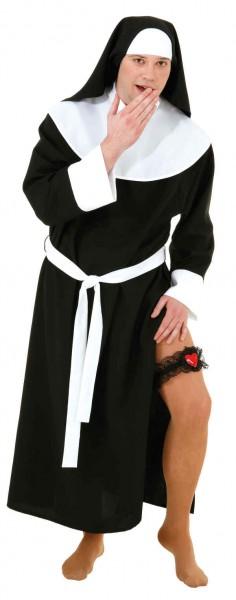 Sexy Nonne für Herren (Kleid mit Haube und Gürtel)