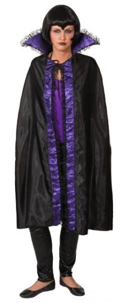 Umhang, schwarz-lila - Größe: Unisize
