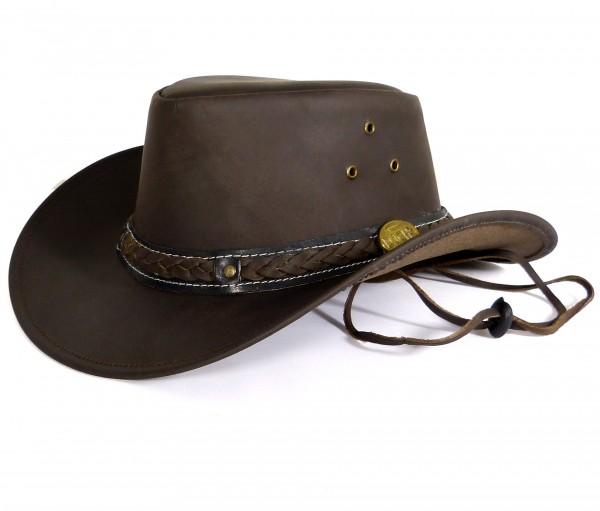 Echt Leder Cowboyhut Westernhut - Black Grain Skipper
