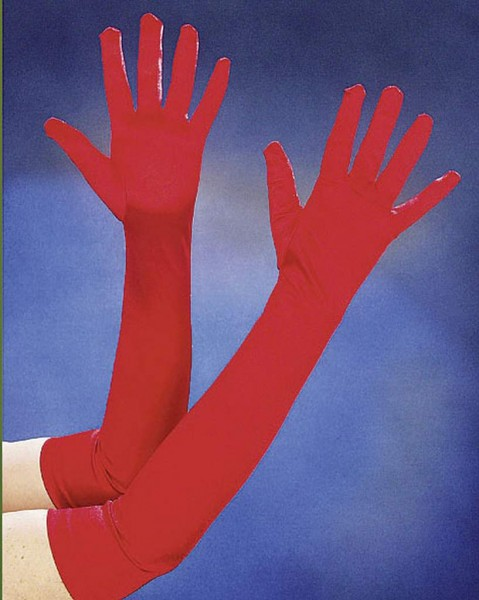 Satin-Handschuhe lang 60 cm in den Farben weiß, rot oder schwarz