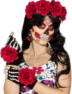Fasching Halloween Mexikaner-Set mit Blumen