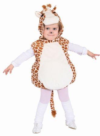 Faschingskostüm Kinder: Giraffen Weste mit Kapuze - Größe: 104