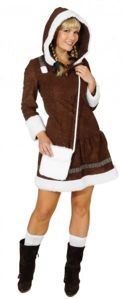 Eskimo Girl, braun (Kleid mit Kapuze) - Größe: 34 - 44