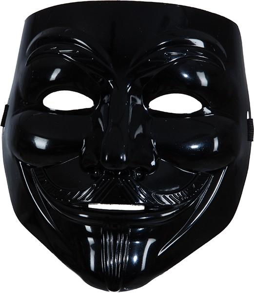 Faschings Maske: Maske mit Bart, schwarz