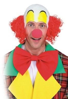 Clownglatze mit Haaren