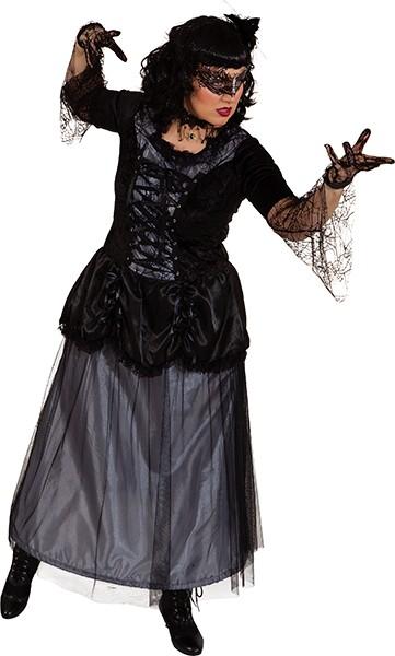 Gothic Kleid Teja (Kleid mit Reifrock) - Größe: 36/38 - 48/50